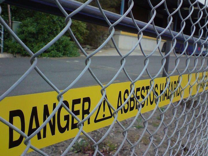 danger warning tape asbestos